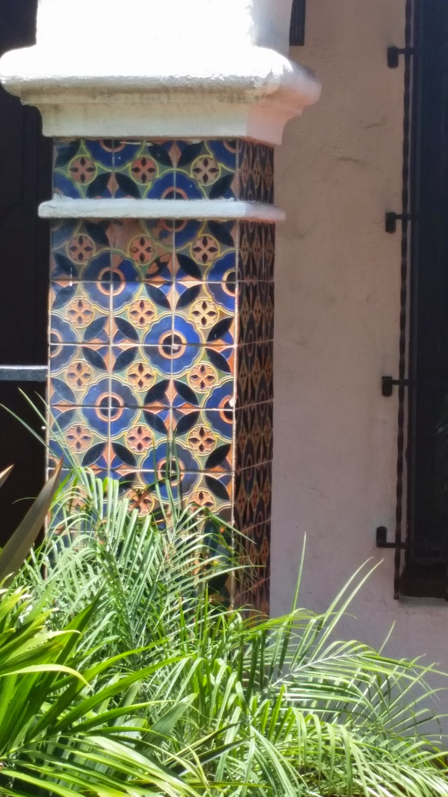 Spanish Tile on a column circa 1928