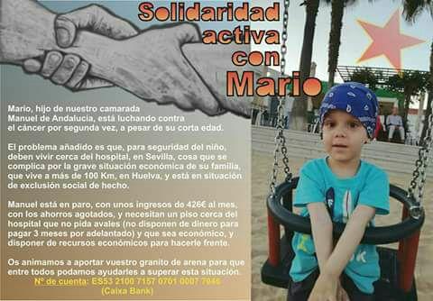 SOLIDARIDAD CON MARIO, JUNTOS LO CONSEGUIREMOS