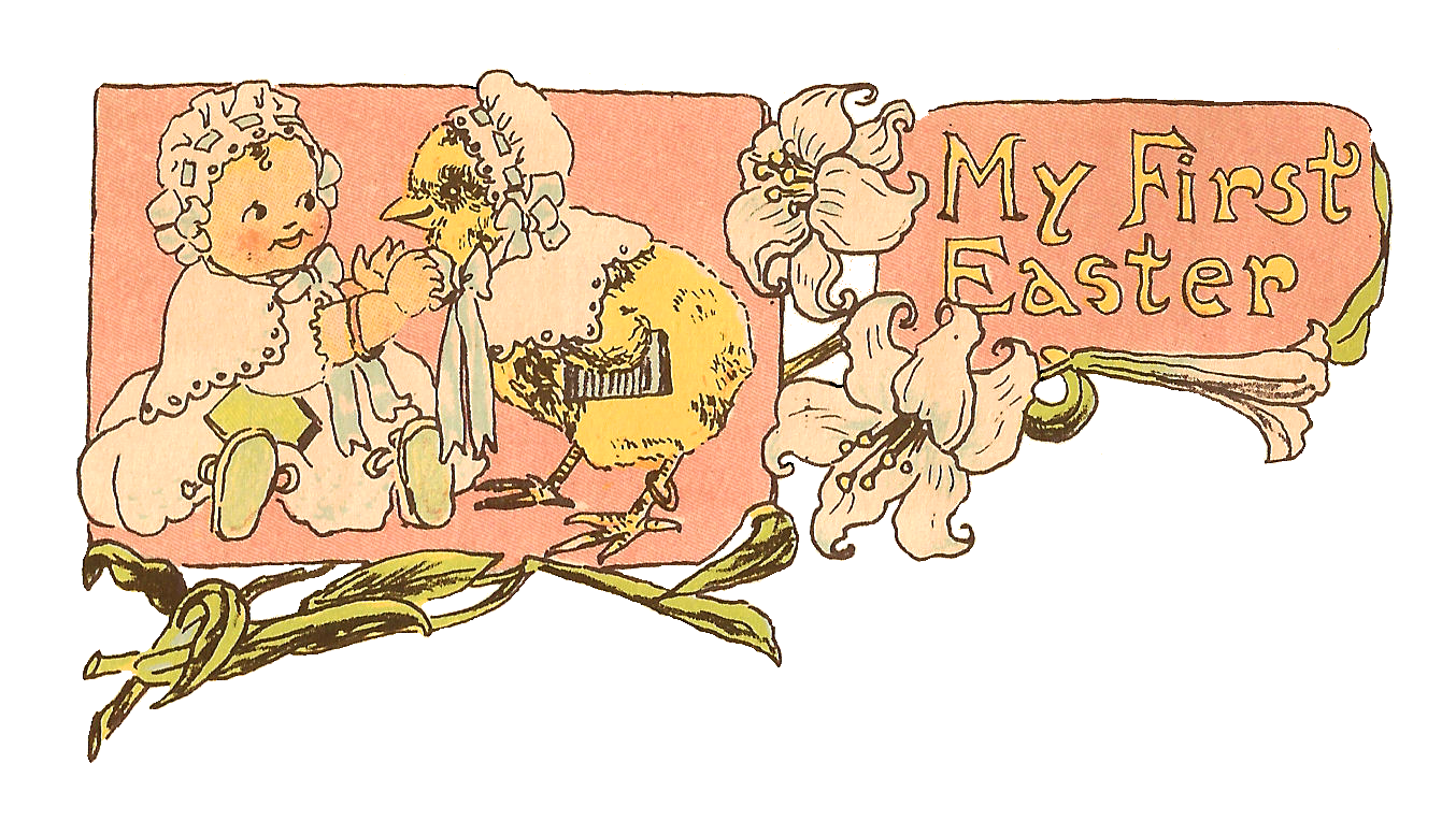 antique images free easter clip art baby u0027s first easter digital