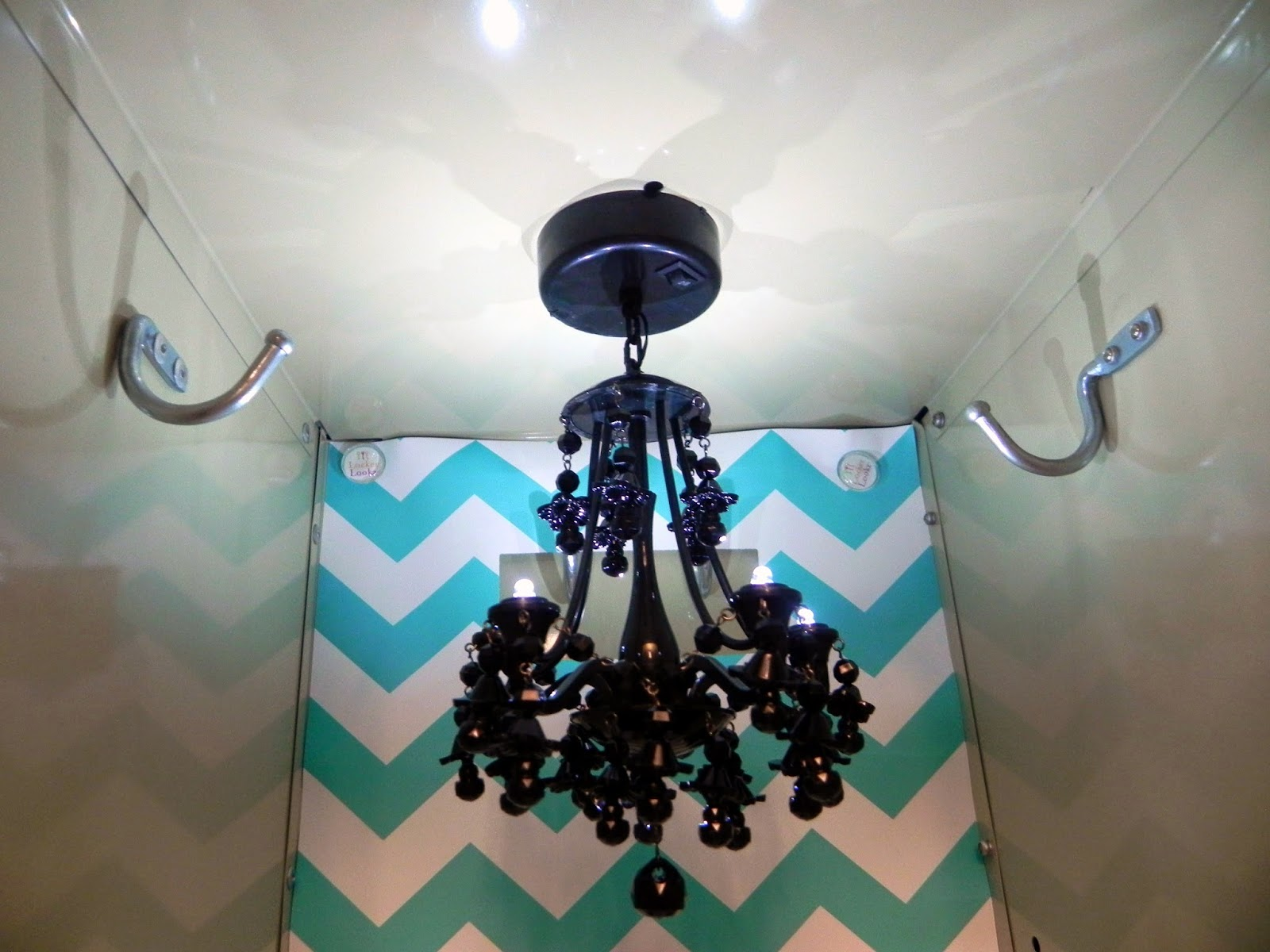 Locker chandelier at home and interior design ideas lovely the led chandeliers run on aaa batteries are magnetic to the top of the locker arubaitofo Images
