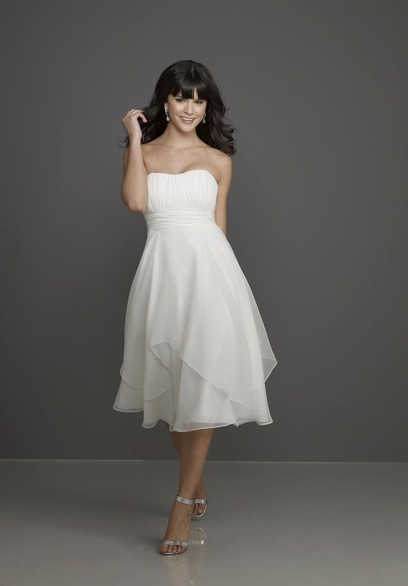 simple white bridesmaid dress