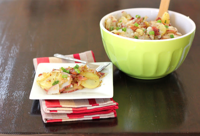 German potato salad with bacon