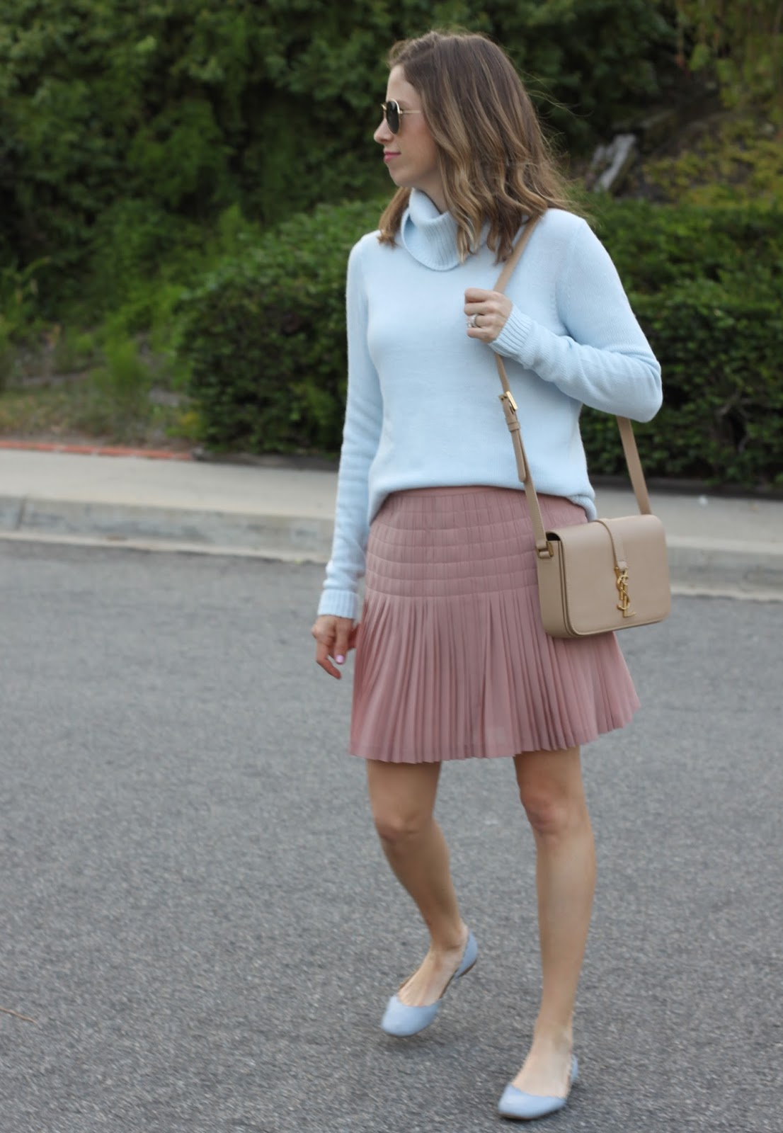 winter pastel outfit