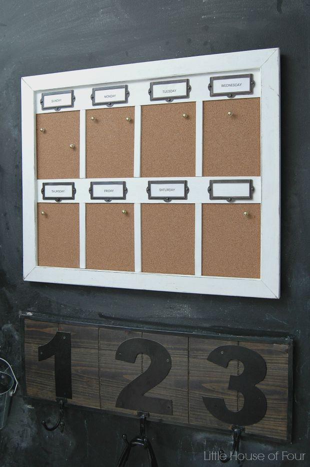diy weekly cork board organizer little house of four