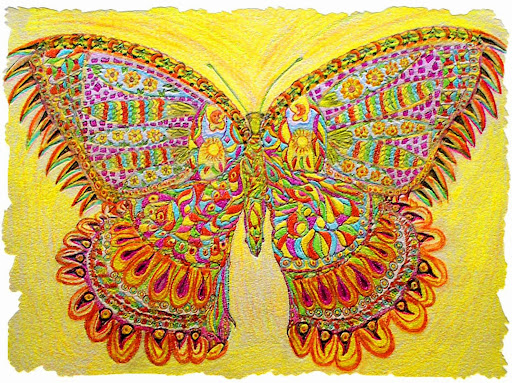 Butterfly by Elizabeth Pavlik ((Nov. 1940 – Dec. 2007)