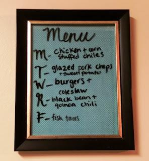 gluten free weekly menu