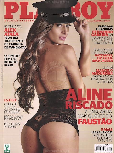 Confira as fotos da dançarina mais quente e gostosa do Faustão, Aline Riscado, capa da Playboy de junho de 2012!
