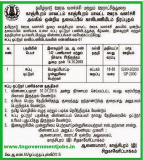 Sirukaveripakkam Panchayat Union Recruitments (www.tngovernmentjobs.in)