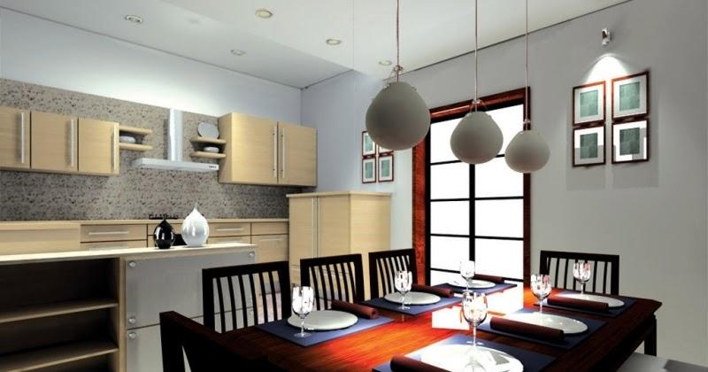 desain ruang makan dan dapur minimalis desain gambar