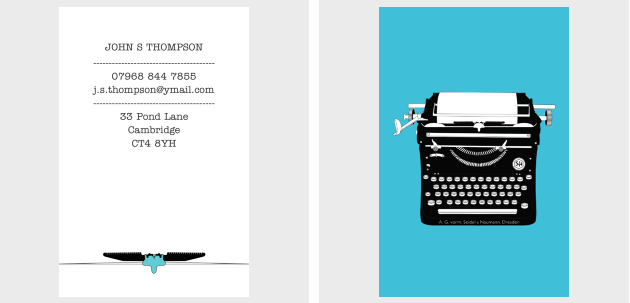 writers business cards - Khafre