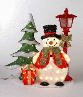 Christmas Tree  Snowman Light Decoration Ideas Style
