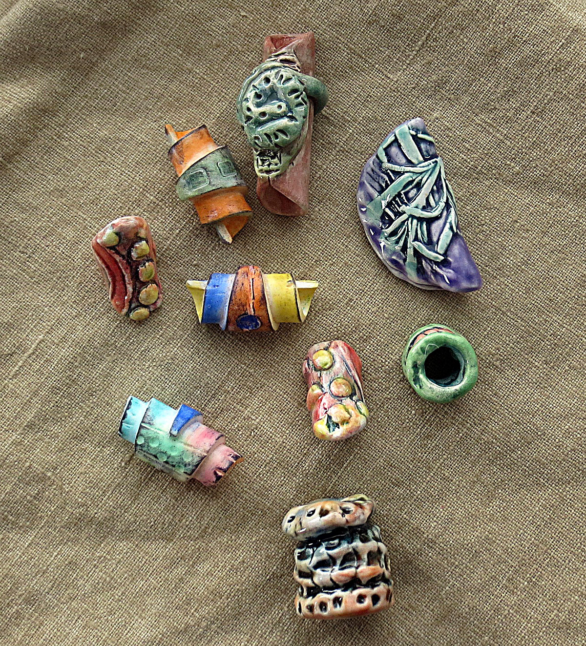 Art Bead Scene Blog Tutorial Simple Summer Linen And Beads Necklace