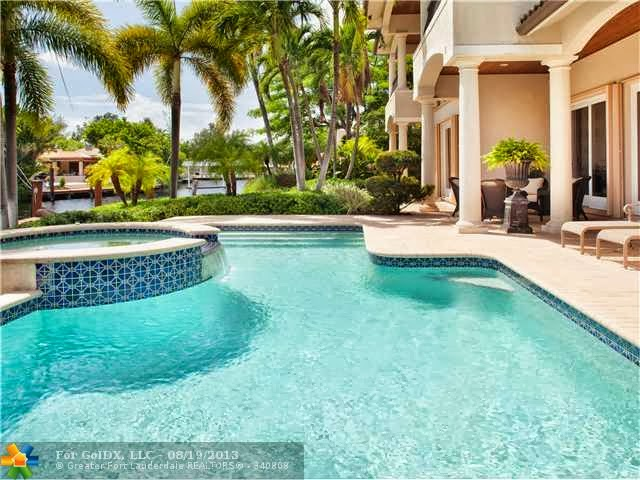 Pool and spool in Miami Florida