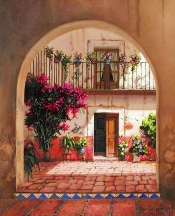 Im genes arte pinturas balcones pasillos y terrazas - Pintura para terrazas ...