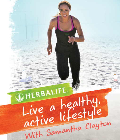 live a healthy active lifestyle with samantha clayton