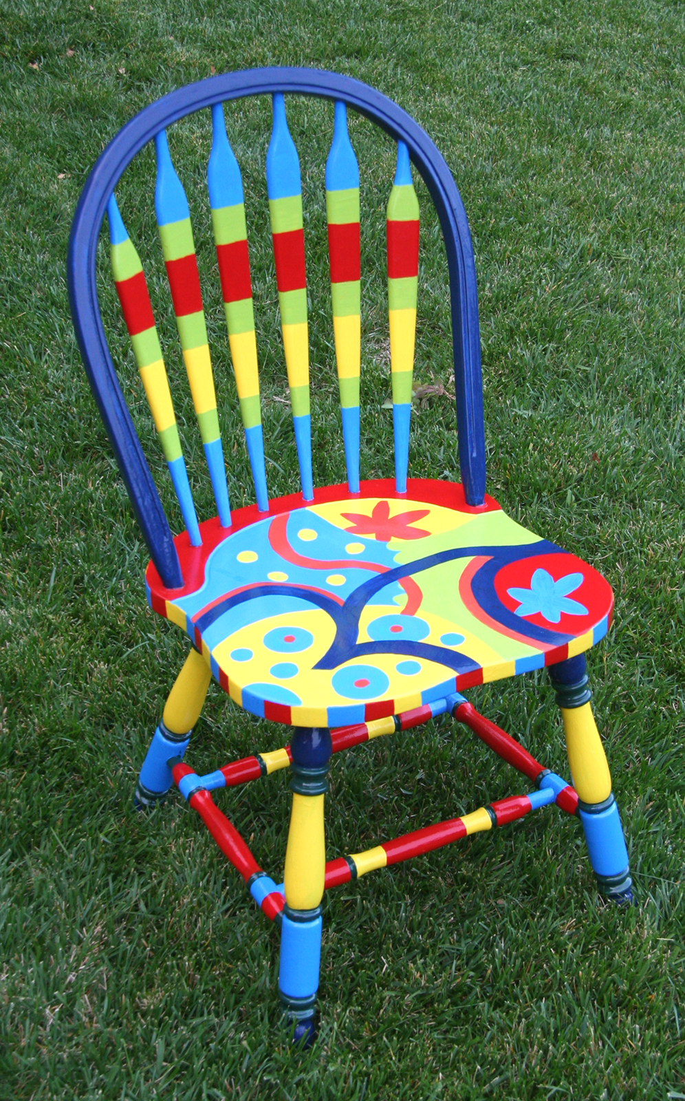 The passionate maker project repainting a kitchen chair for Painted kitchen chairs