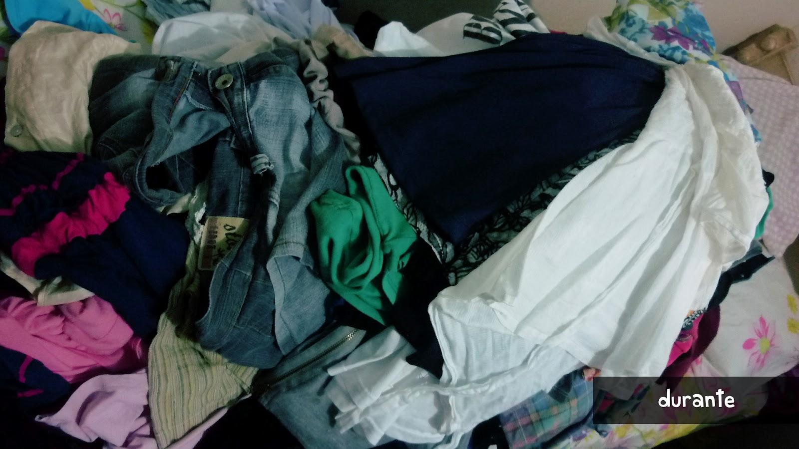 Tinha muita roupa ali no meio que eu até tinha esquecido que tinha
