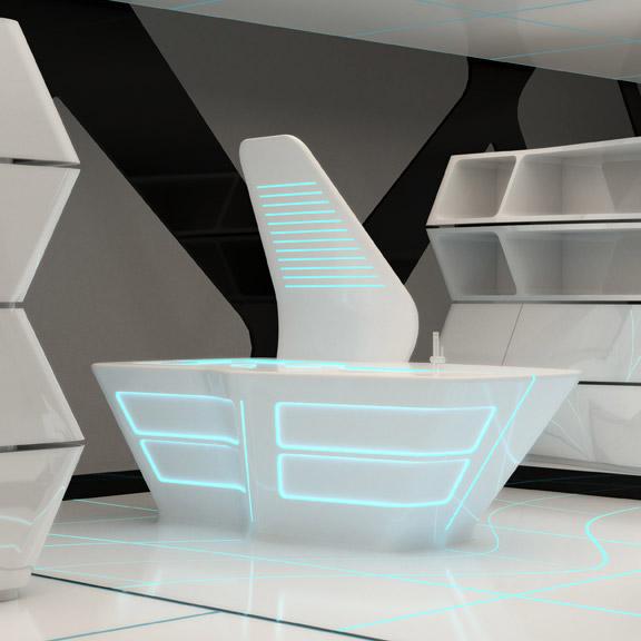 Cuisine futuriste inspirée du film Tron