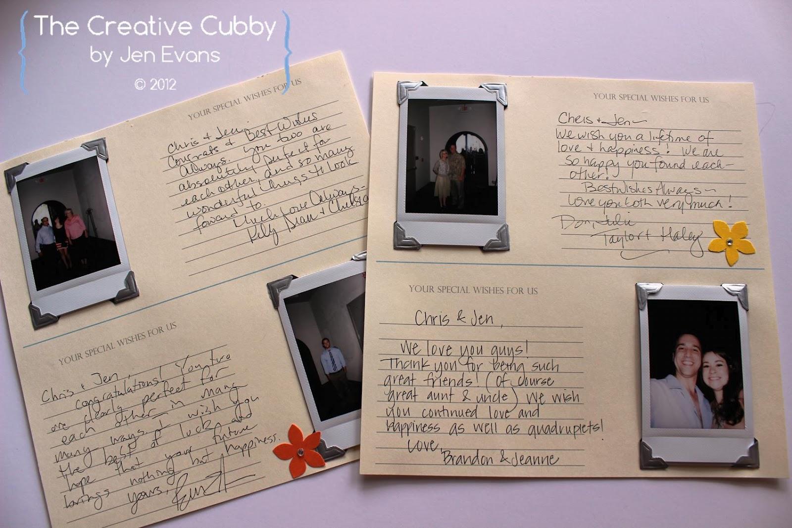 Scrapbook guest book ideas - Polaroid Wedding Guest Book