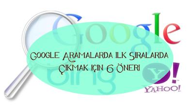 Google sıralamada yukarılara çıkmak