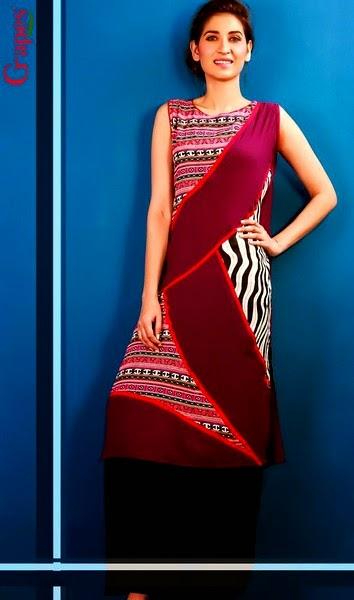 Print Kurta Designs 2014-2015