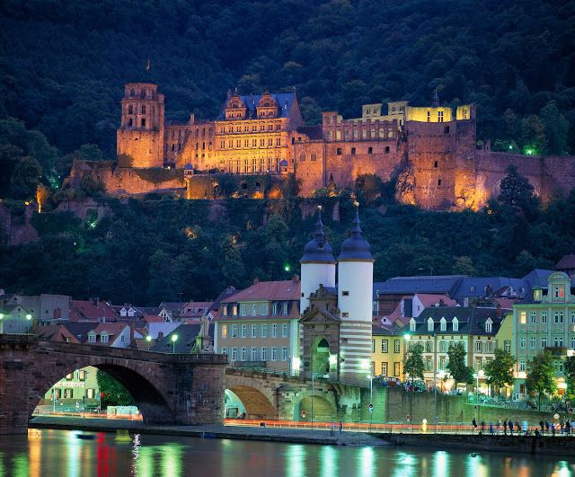 Rising 200 feet above the city, the Heidelberg Castle dates back to the early 13th century. Photo: © German National Tourist Office. Unauthorized use is prohibited.
