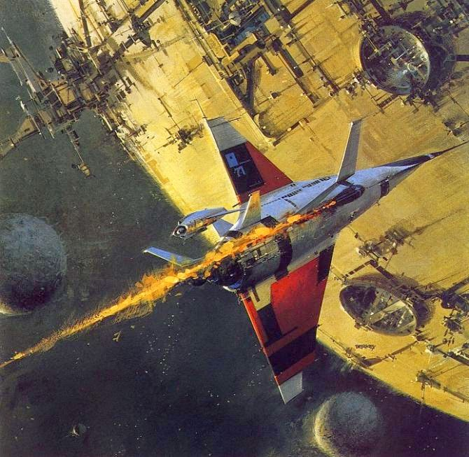 John Berkey pintura viajes en el espacio