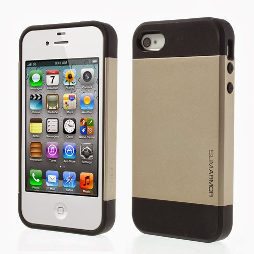 SGP Slim Armor TPU & PC Hybrid Case for iPhone 4 4S - Champagne Gold