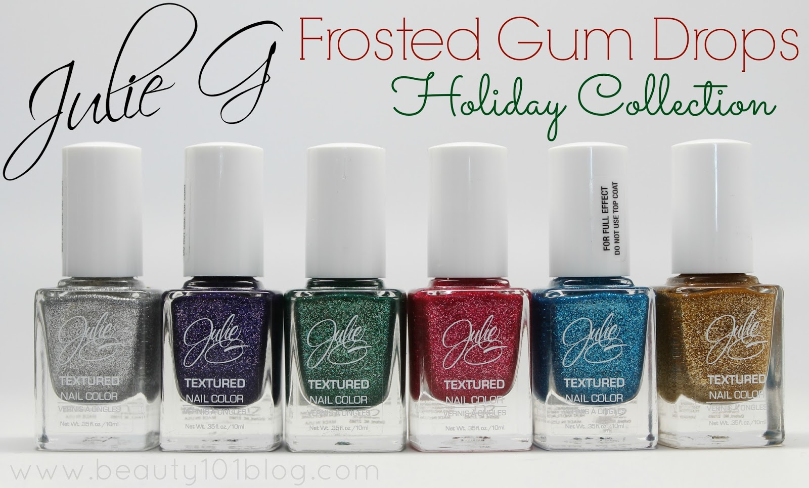 Julie G Frosted Gum Drops Holiday Collection Review + Swatches ...