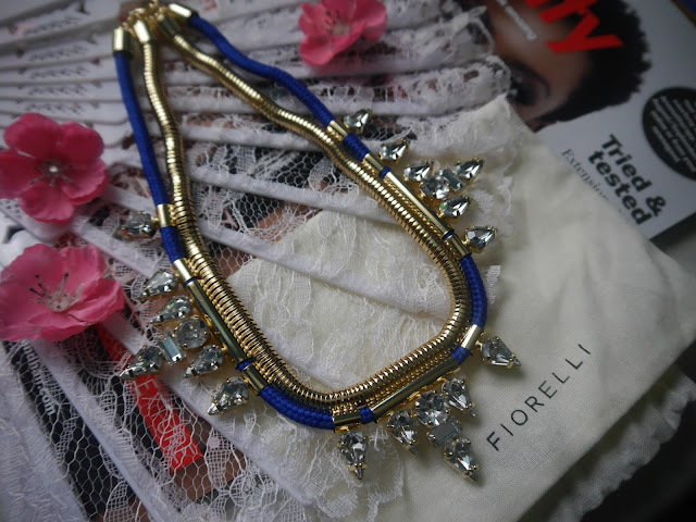 Blue Cord and Clear Acrylic Gold Statement Necklace - See more at: http://www.jewelstreet.com/blue-cord-and-clear-acrylic-gold-statement-necklace#sthash.s71TGUsx.dpuf