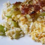 Gratin de courgettes, riz et mimolette