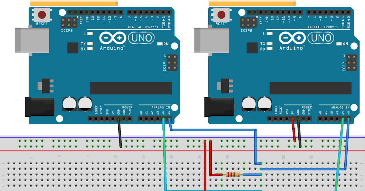 Arduino er communication between arduinos on i c using