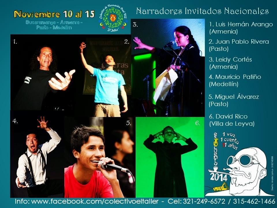 Nuestros Invitados Nacionales - Estucuento 2014 - Una Voz, Un Cuento, 11 Años