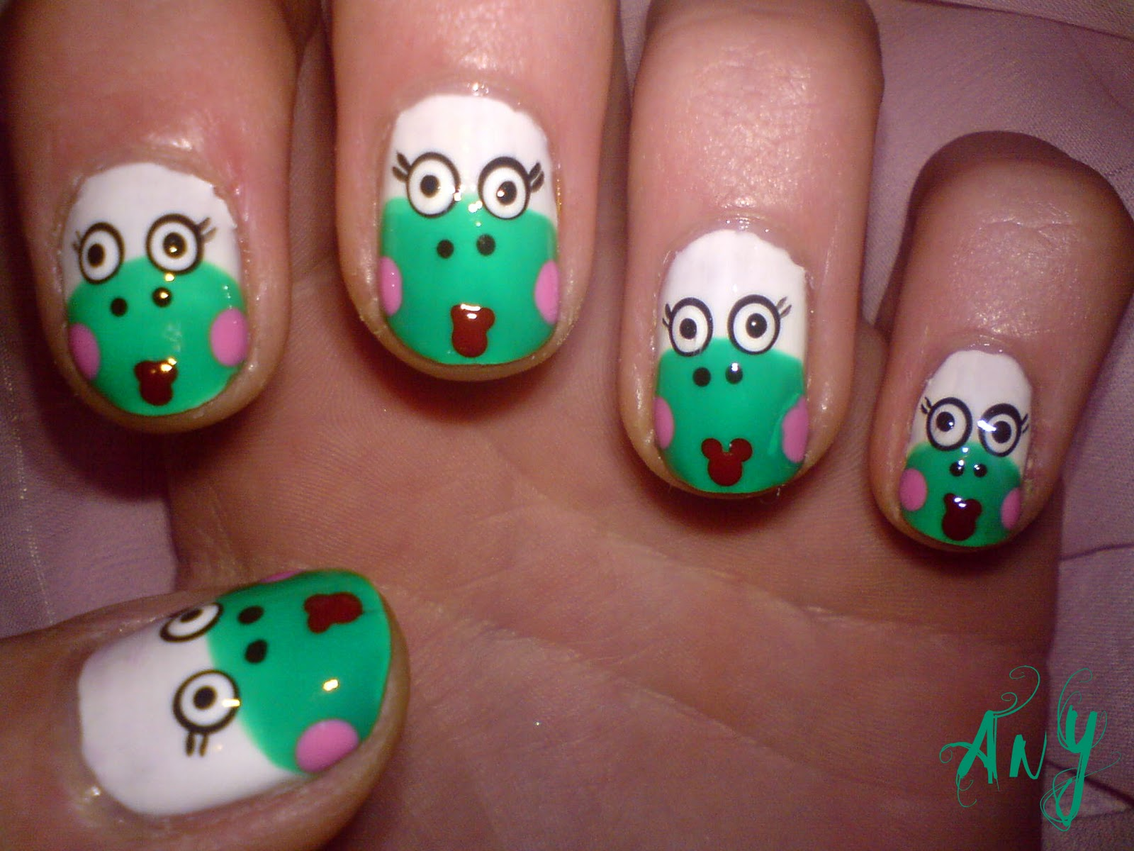Any Rainbow: Ugly Frog Nail Design