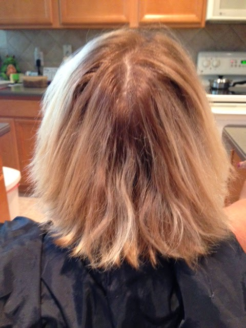 Blond Hair Before Foiling Highlights