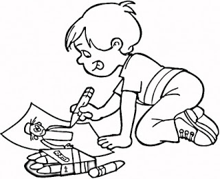 children coloring drawings to color