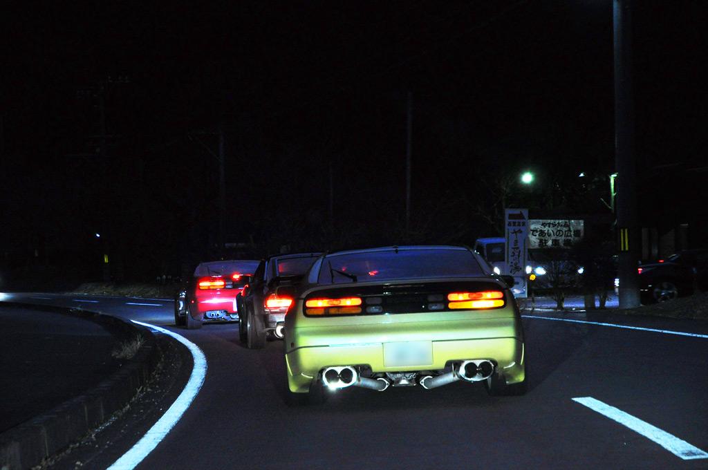 Nissan 300ZX Z32 (Fairlady Z), japońskie sportowe samochody, kultowe, silnik V6, tylnonapędowe, po tuningu, modyfikacje, tył, lampy, zdjęcia w nocy, auta