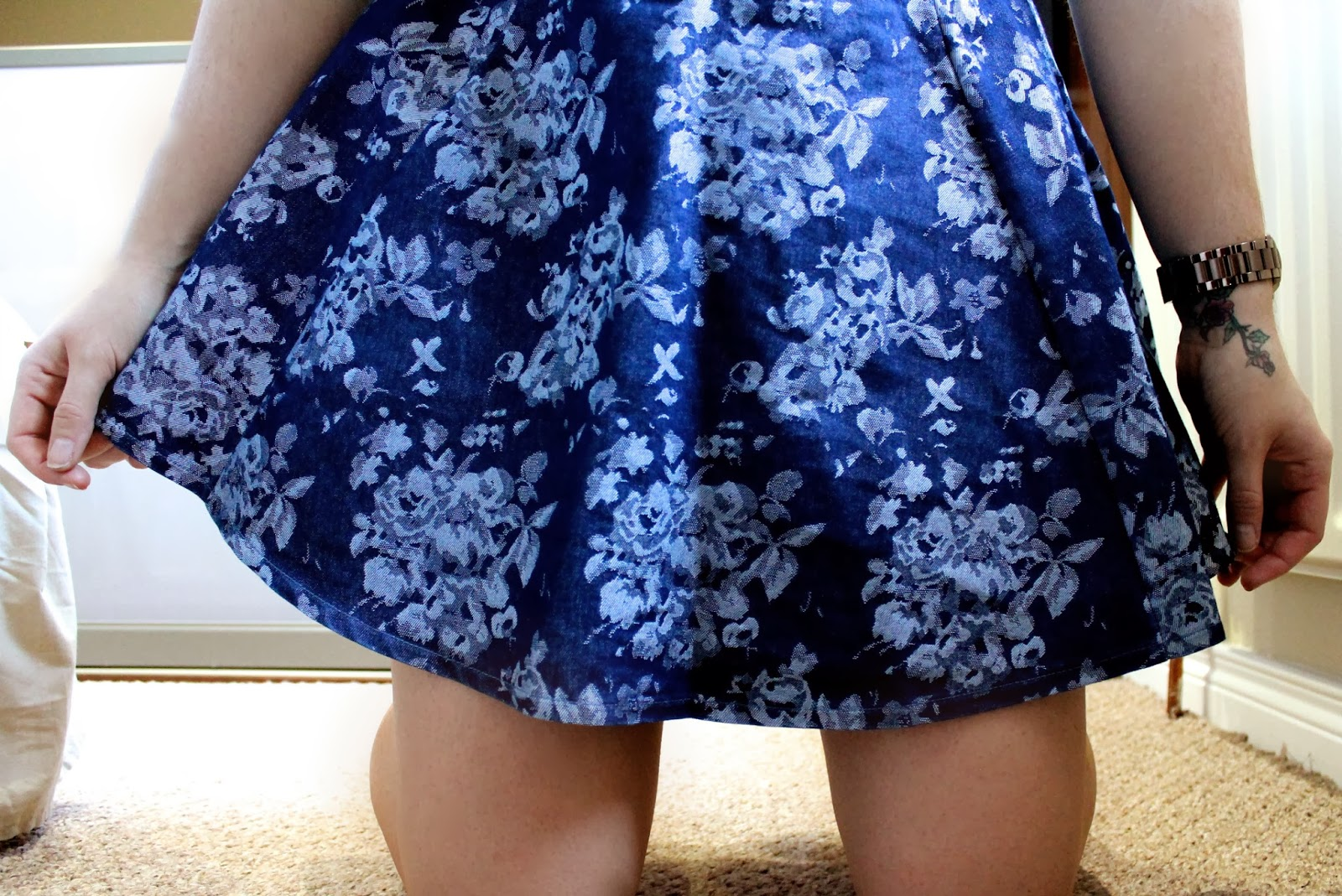 Photo of floral Primark skirt