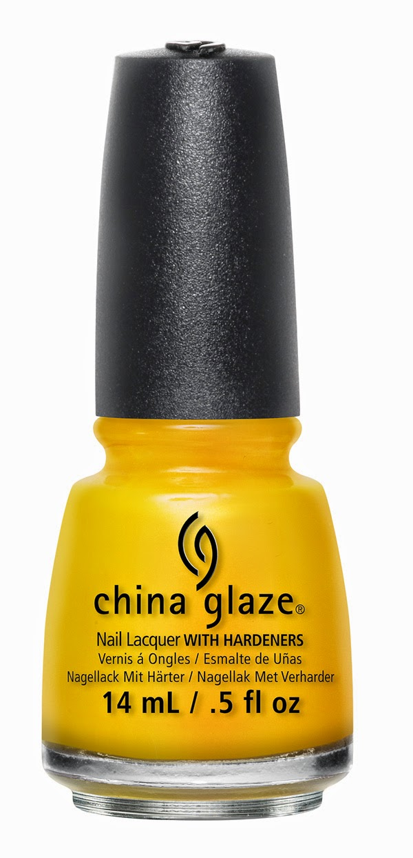 China Glaze Sun's Up, Top Down