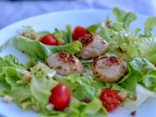 Salade de St Jacques à la plancha