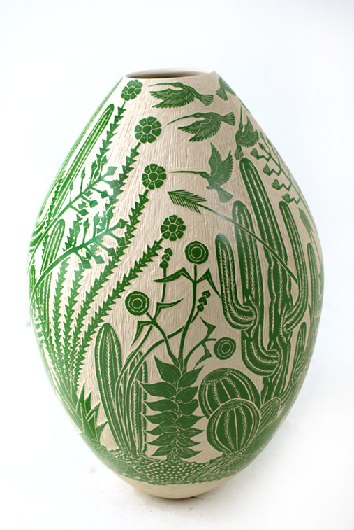De Gregoris Ceramiche Latina.Solitary Dog Sculptor I Ceramic Ceramica Mata Ortiz Pottery