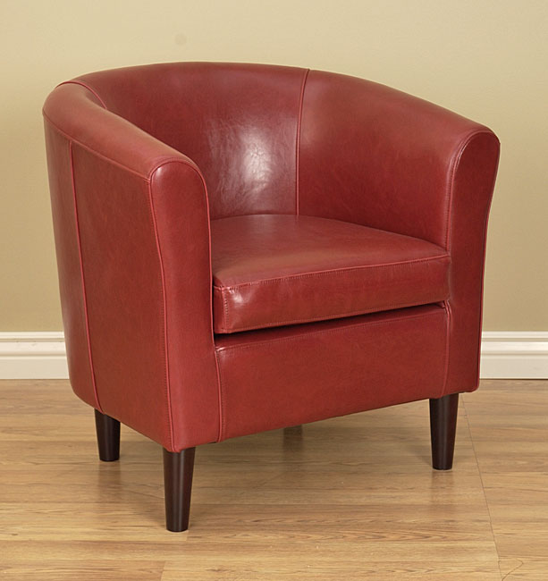 Maggie S Room Burnt Red Tovano Leather Club Chair