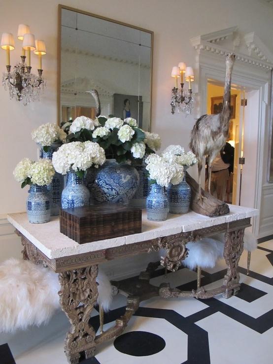 classic blue and white porcelain decor obsession diy. Black Bedroom Furniture Sets. Home Design Ideas