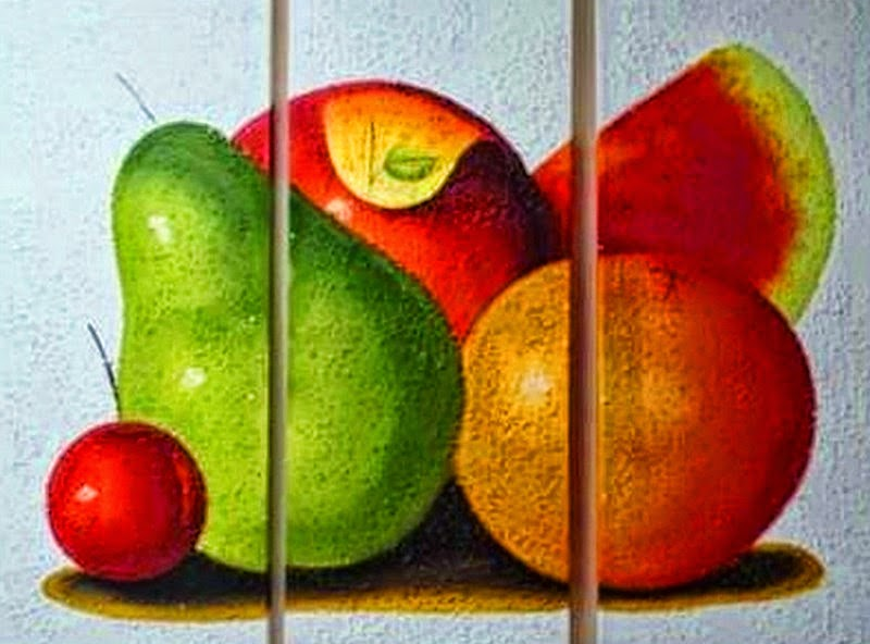 Pinturas Temáticas : Pinturas al Óleo Modernas de Frutas