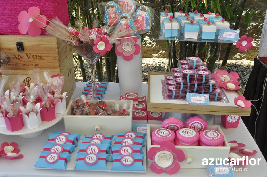 Azucar flor party studio primera comuni n montserrat - Ideas para mesas dulces de comunion ...