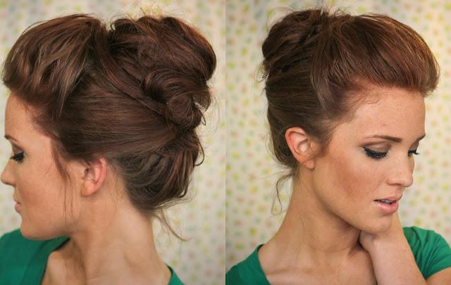 The Freckled Fox Hair Tutorial The Bouffant Bun