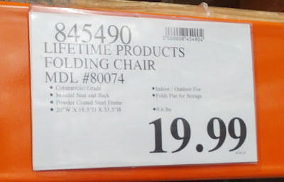 Deal for the Lifetime Products Ultimate Comfort Folding Chair at Costco