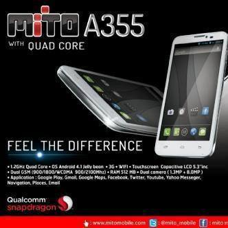 Mito A355 Mito T520, Tablet Android Dual Core Cuma Rp 1 Jutaan