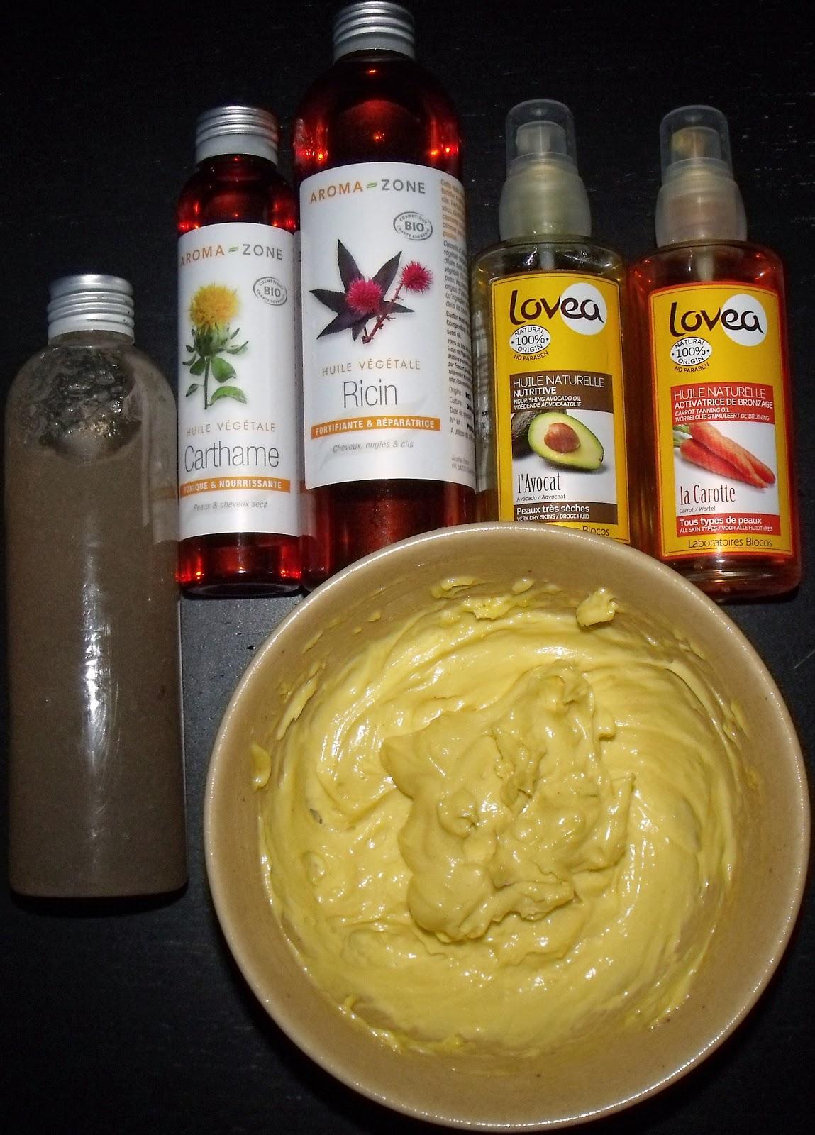 de gauche a droite 1 gel hydratant maison au lin aloe vera silicone vegetal 2 mes huiles vegetales bio utilisees pour ma mayonnaise maison - Coloration Cheveux Naturelle Maison