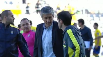 Primer partido de Quique Setién en UD Las Palmas